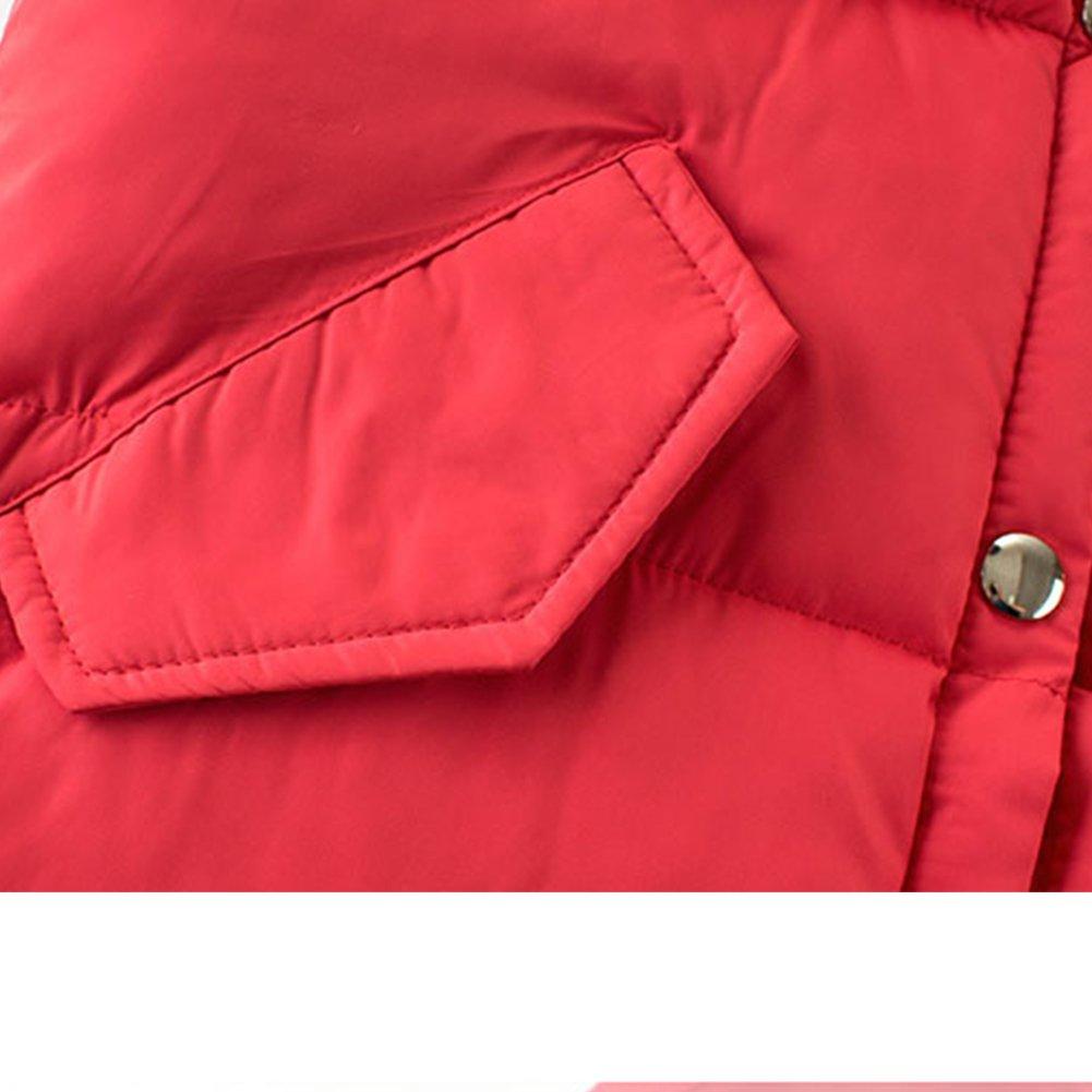 KISBINI Big Boys Stand Collar Warm Vests Autumn and Winter Coats Black 9T by KISBINI (Image #4)