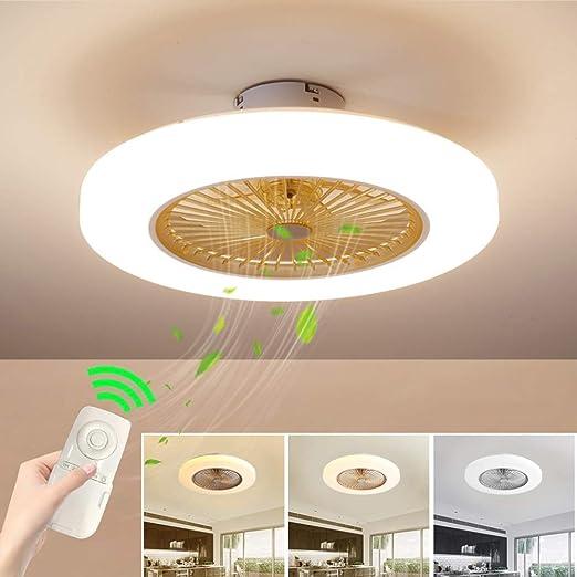 Ventilador de techo con luz de velocidad ajustable, regulable con ...
