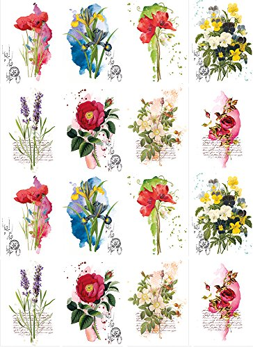 HandpickedGardenBouquetFlowers-81062 - Ceramic Decal - Enamel Decal - Waterslide Decal - Select Image Size