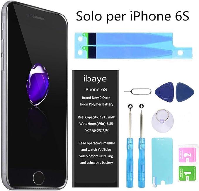 83 opinioni per Ibaye Batteria per iPhone 6S 1715mAh Alta Capacità, batteria interna Ricambio