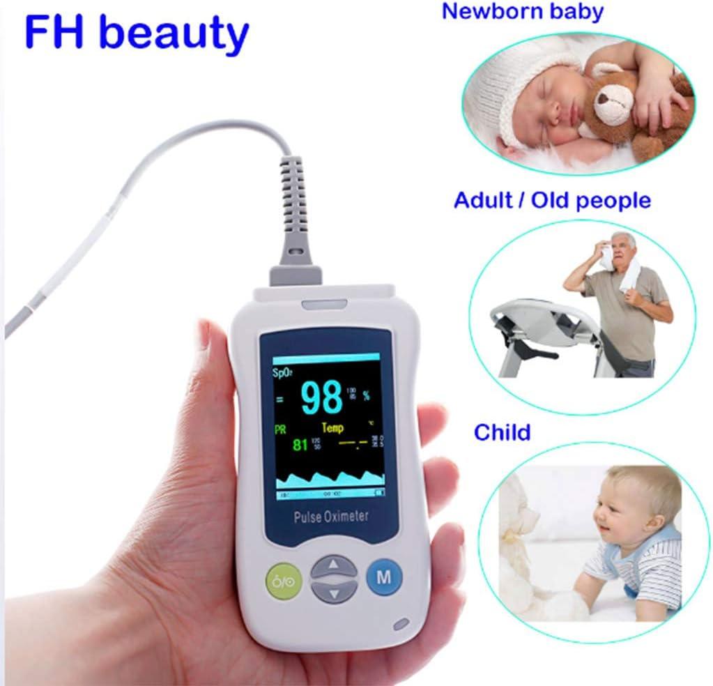 Huaaag Médico Portátil Oxímetro De Pulso De Mano para Adultos Recién Nacidos Infantiles Neonatales Mini Oxímetro De Mano De La Abrazadera Oxímetro