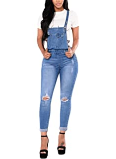 236aa4eb93 GALMINT Women s Juniors Casual Summer Pockets Denim Bib Overall Jumpsuits  Long Pants. 3.5 out of 5 stars 7 ·  21.99 · GOSOPIN Women Skinny Jeans  Casual ...