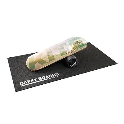 """'– Daffy Boards Balance Trainer Set """"kite: Balance Board 75cm x 29,5cm Bois de Bouleau, stable 125mm Rouleau en plastique, Tapis de protection du sol"""