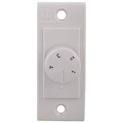 Anchor 14501 Penta Step Fan Regulator Mini Eme Wh, White
