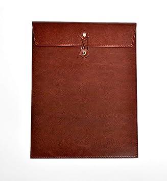 funyu cuero PU carpeta de documentos A4 Carpeta de archivo portátil Bolsillos Documentos DIN A4 - Archivador para oficina escuela Conferencia Business: ...
