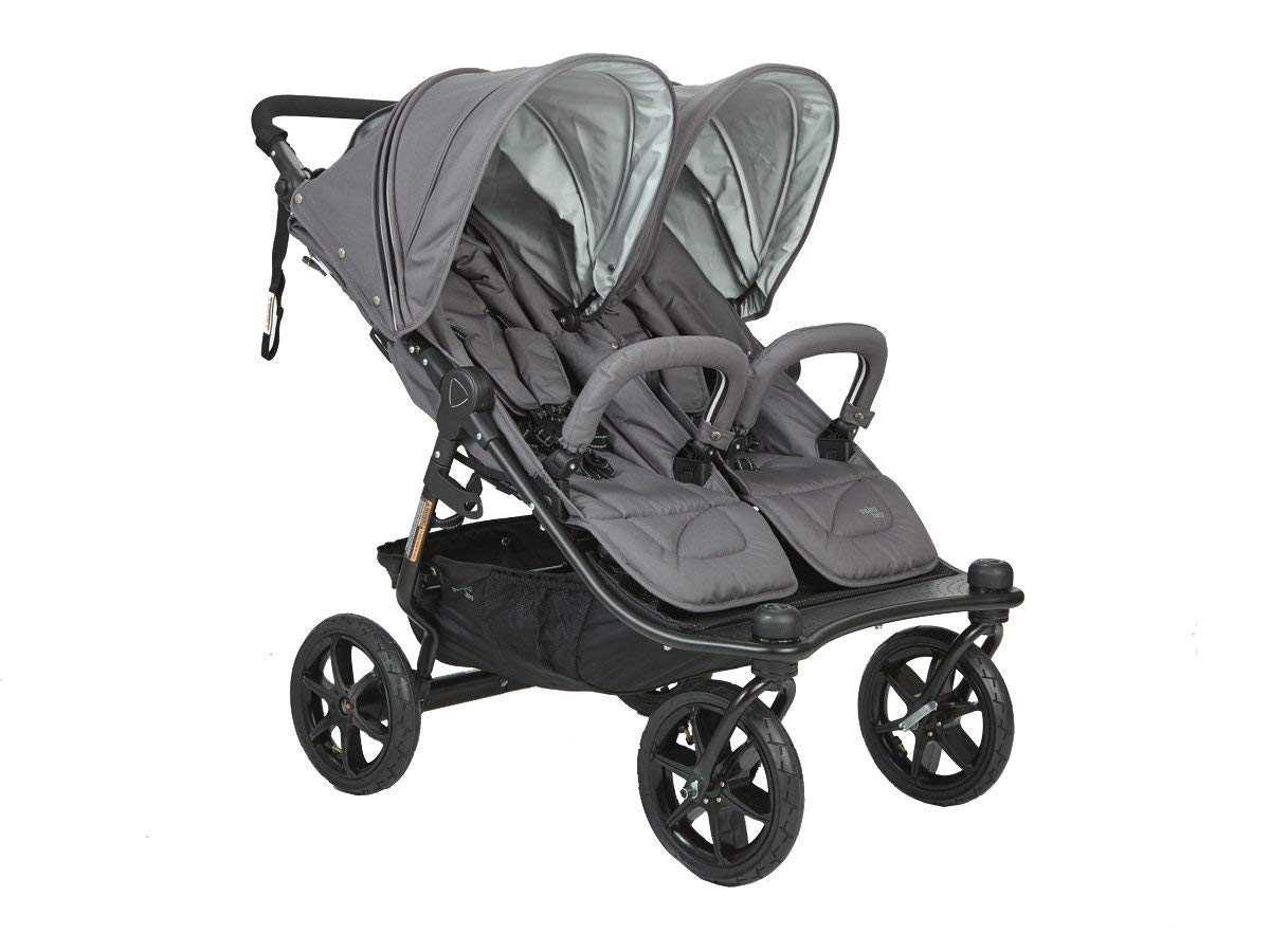 Valco Duo X Double Stroller in Dove Grey by Valco