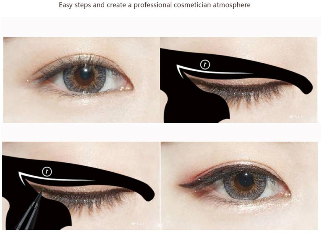 Ecosin 2pcs Women Cat Line Pro Eye Makeup Tool Eyeliner Stencils