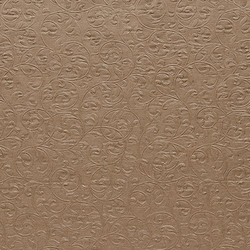 Beacon House 61-55437 Carlotta Textured Scroll Wallpaper, Copper ()