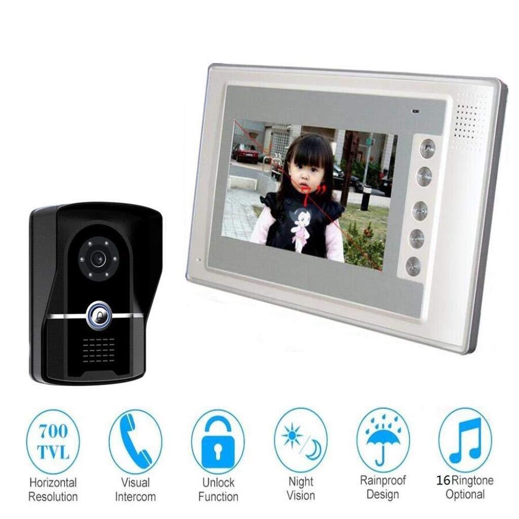 限定版 カメラの通話装置のドアベル7インチのワイヤーで縛られたビデオドアベル、夜間視界の防水ドアベル   B07R4SMVCN, 介護生活雑貨のライフプラザ:2e5dbe90 --- dou13magadan.ru