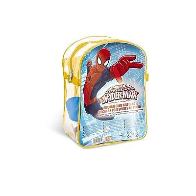 Mondo- Mochila Playa Spiderman con Cubo, Regadera, Palas Y Moldes, (28266): Juguetes y juegos