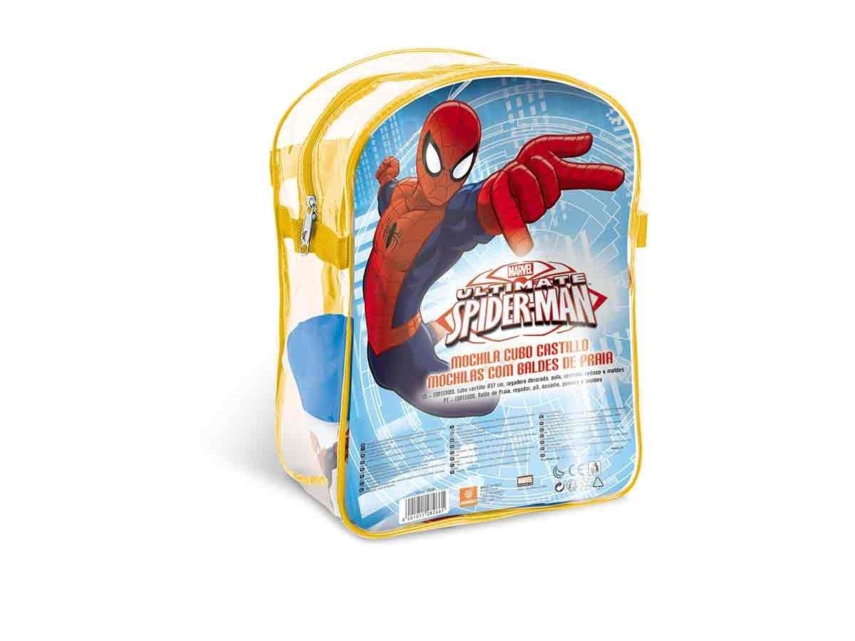 Mondo Mochila Playa Spiderman con Cubo, Regadera, Palas Y Moldes 28266: Amazon.es: Juguetes y juegos