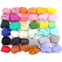 Fibra di filatura di pile di lana di fusione di lana di lana per la fusione degli aghi 36 colori