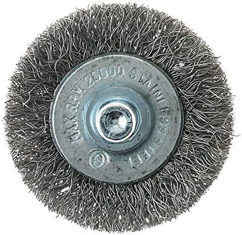 Forney 60013 Wheel Brush 1-1//2-Inch Coarse Wire with 1//4-Inch Shank