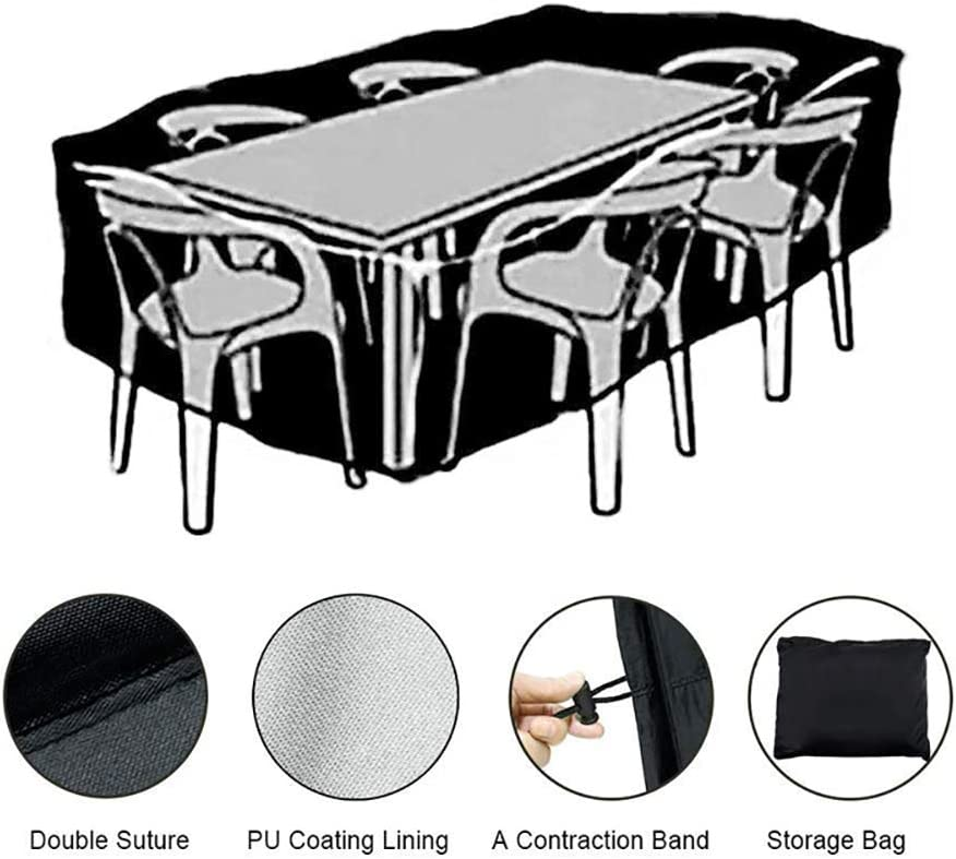 MORIASTER Coperture per Mobili da Giardino,Coperture per GiardinoRettangolari Copertura per Tavolo da Esterno Tessuto 135 * 135 * 75 cm