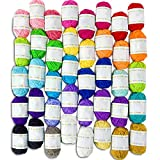 Acrylic Yarn Skeins Assorted Colors with 7 E Books Perfect for Any Knitting and Crochet Mini Project Super Easy to Work with Learn Crochet and Knit Small Yarn Projec & ebook by Big Store