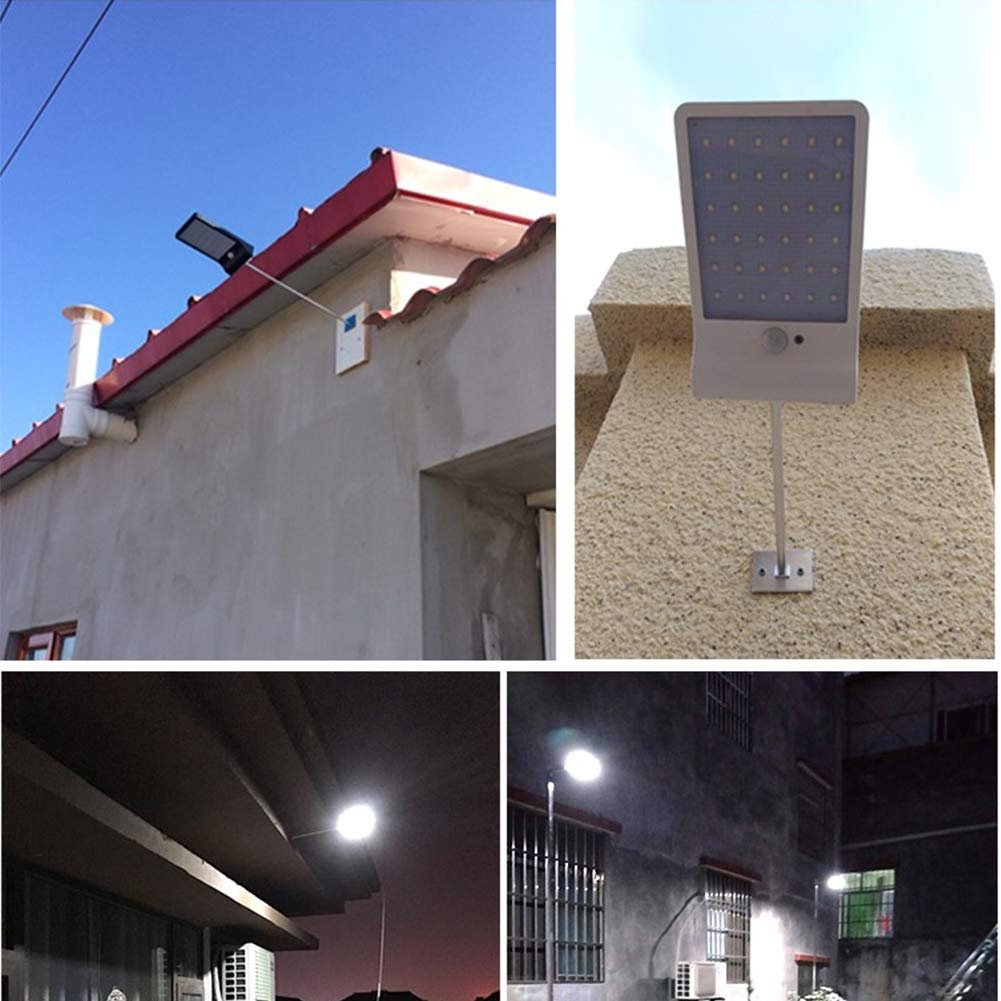 Unicoco Solar Street Lamp Motion Sensor Garden Light Waterproof Patio Lamp Mode Adjustable Outdoor Wall Light