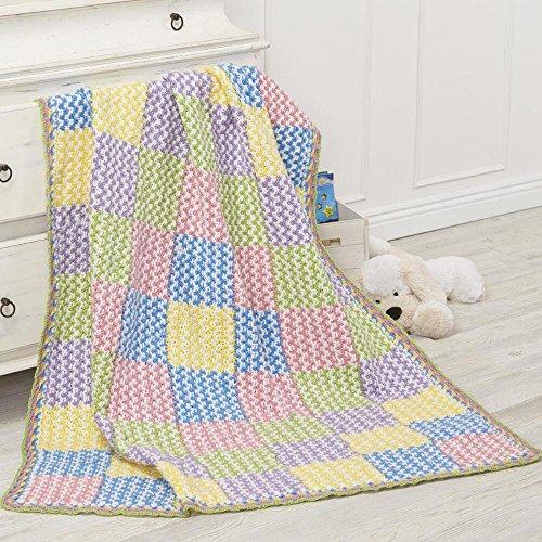 Plaid Crochet Afghan - Herrschners® Bright Plaid Baby Afghan Kit