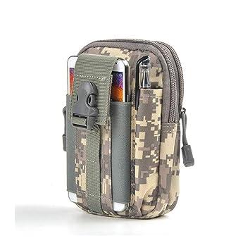 HAOLIEQUAN Impermeable Militar D30 1000D Bolso De La Cintura De Los Hombres Portátil De Teléfono Resistente