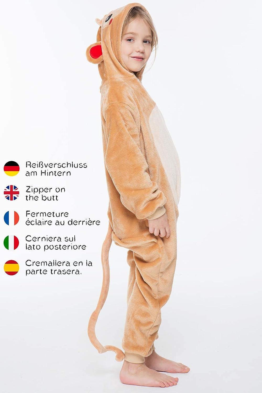Color Blanco corimori Kigurumi Disfraz Animal 10+ Modelos Talla 90-110 cm MIA el Unicornio Ni/ños