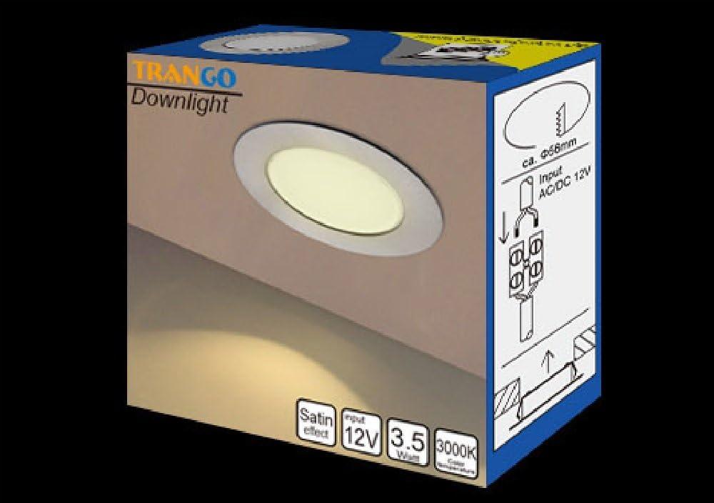 Trango 3er Set 12Volt AC//DC LED M/öbel Einbaustrahler Einbauleuchte Deckenleuchte TGG4E-032 Nickel matt zum Ersetzen herk/ömmlichen G4 M/öbelleuchten K/üchenhaube-Leuchten usw.
