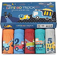 Baoji Boys Underwear, FunkyDog Cotton Underwear Toddler Underwear,Cars Pattern Men Underwear Boxer Briefs(Pack of 5)