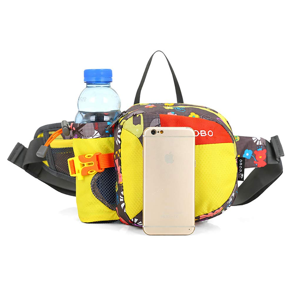 Can Hold iPhone8 Plus 5.9 inch Gear with Water Bottle Holder-for Running QKa Hiking Waist Bag Race Marathon Hiking Cycling and Climbing