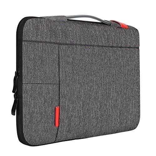 iCozzier-13-133-Inch-Laptop-Sleeve-Handle-Strap-Carrying-Case-Handbag-Protective-Bag-for-13-Macbook-Air-Macbook-Pro-Other-Laptop--Dark-Gray