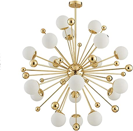 MID CENTURY CEILING LIGHT GOLD ARCHITECTURAL WHITE MILK GLASS GLOBE CROSS DECO