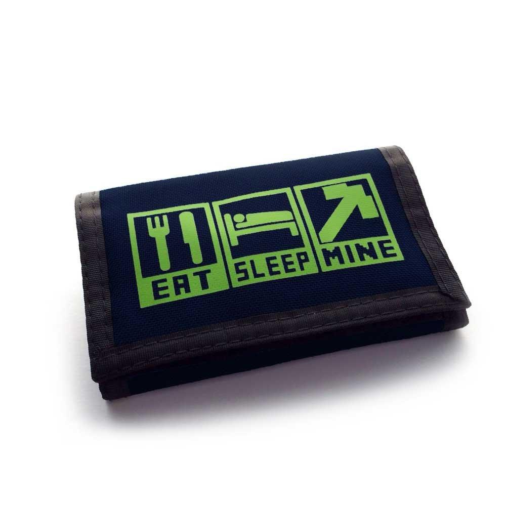 Childs Gaming Wallet Eat Sleep Mine Ripper Wallet Black