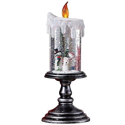 Amazon.com: Lighted Christmas Snowman Candle Decoration, Snowman ...