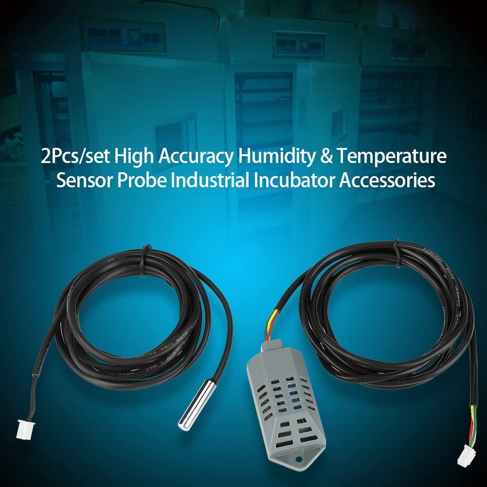 Fdit High Accuracy Temperature and Humidity Sensor Probe Multifunctional Industrial Incubator Thermostat Controller 2Pcs//set