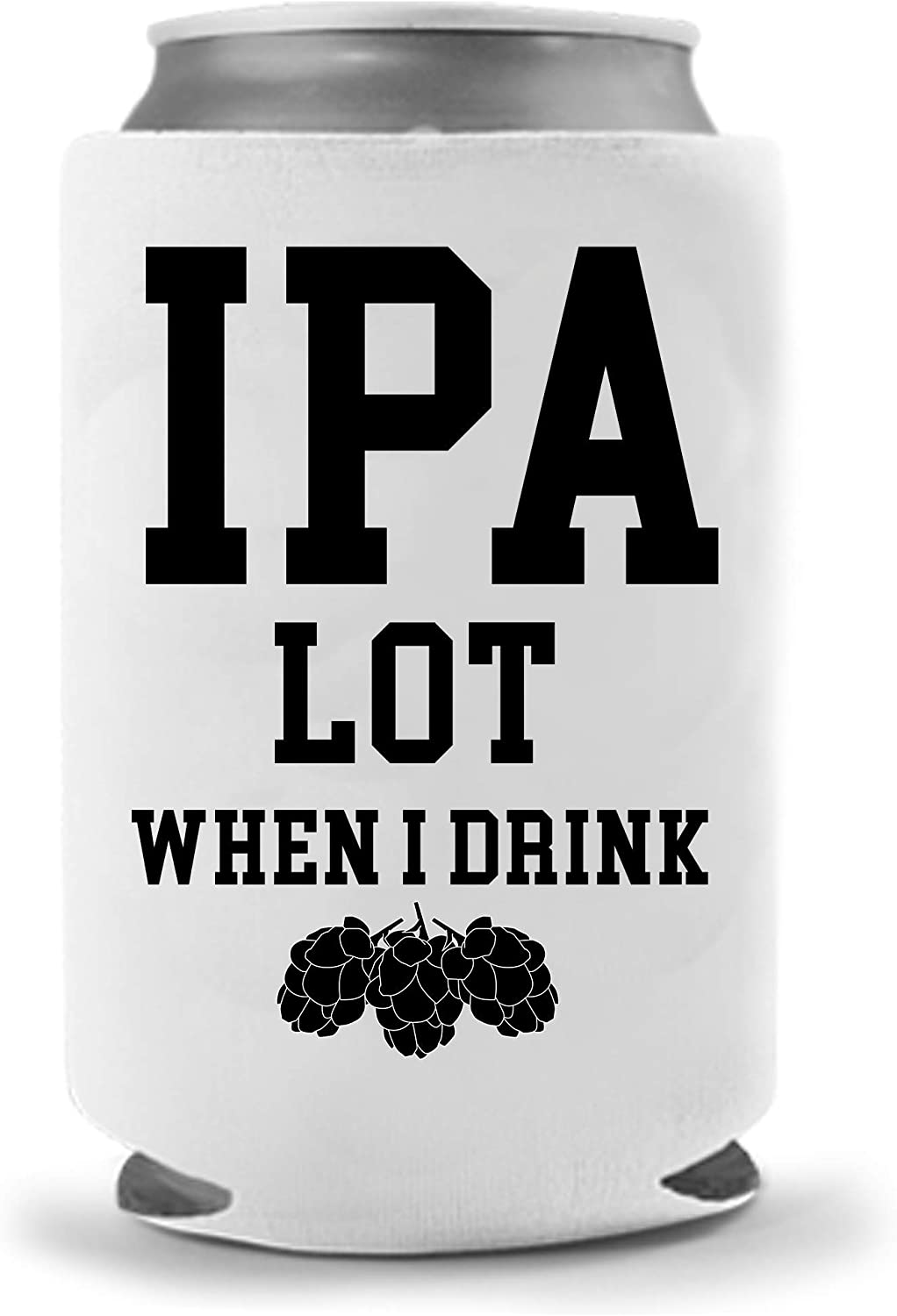 Funny Beer Can Coolies | Quality Neoprene Insulated Soft Can Cooler | Perfect Beverage Cans Bottles | Cold Beer Holder Tailgating Games IPA Beer Gifts
