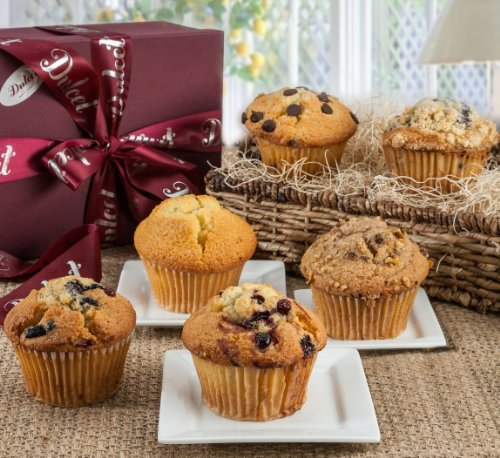 Dulcets Gourmet Muffin Sampler Gift Basket (Best Breakfast Gift Baskets)