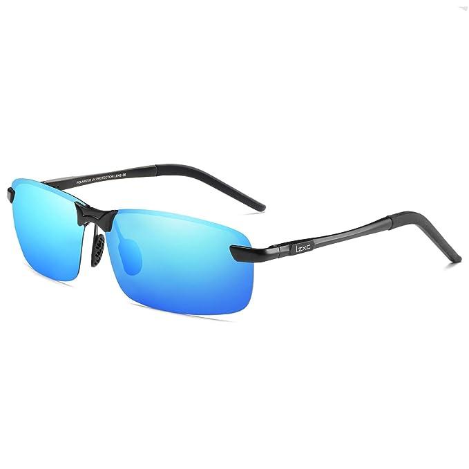LZXC Hombre Gafas de sol Polarizado Al-Mg Metal Super Ligero Marco para Conducción Golf