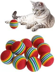 10 pelotas de espuma coloridas para mascotas, juguete interactivo ...
