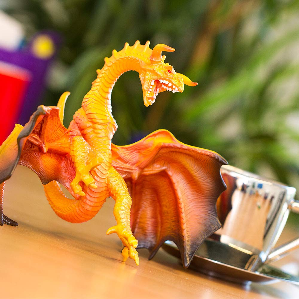 Lava Dragon Prehistoric World Realistic Hand Painted Phthalate Safari Ltd Lead and BPA Free Figurine for Ages 3 and Up