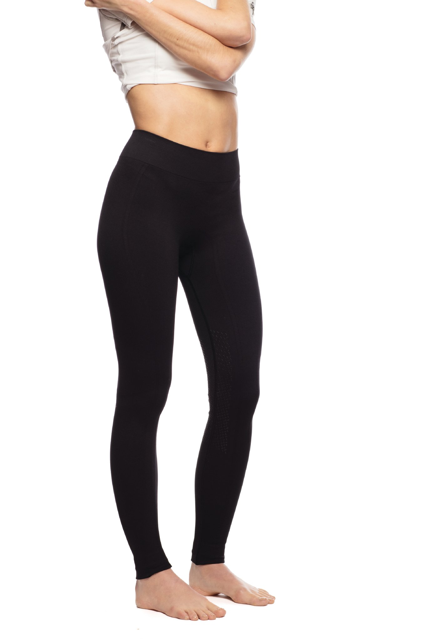 Goode Rider Bodysculpting Seamless Tights Knee Patch Black M