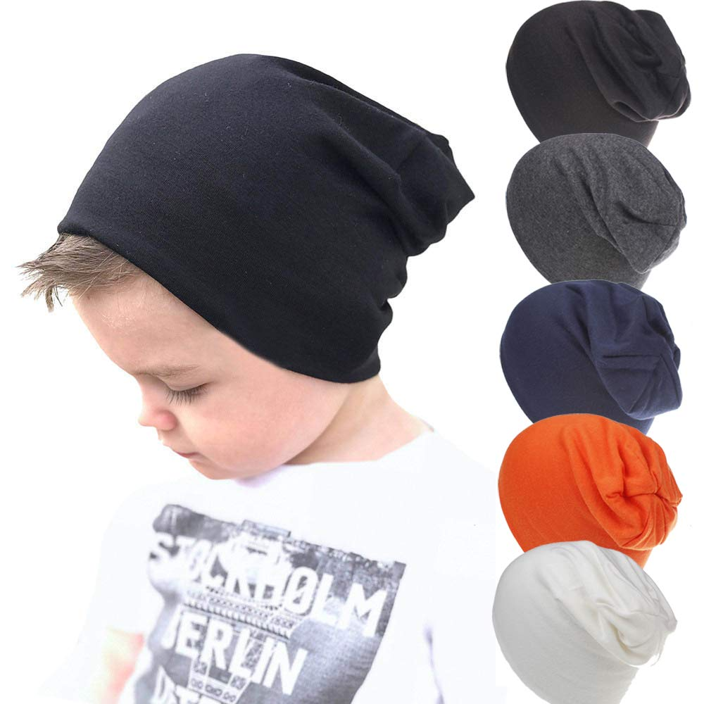 Unisex Baby Toddler Beanie Worm Soft Caps Baby Hats(5 Packs) by iyaner