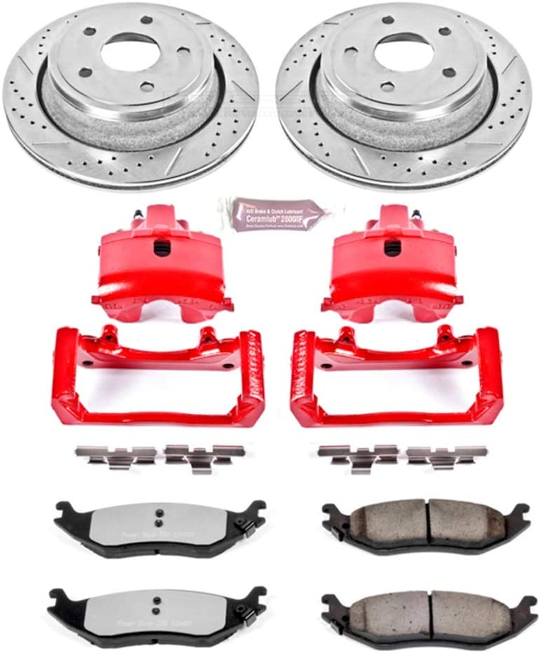 Power Stop KC2172-36 Rear Z36 Truck and Tow Brake Kit with Calipers