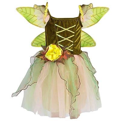 Petitebella Green Fairy Costume Dress 1-10year: Clothing