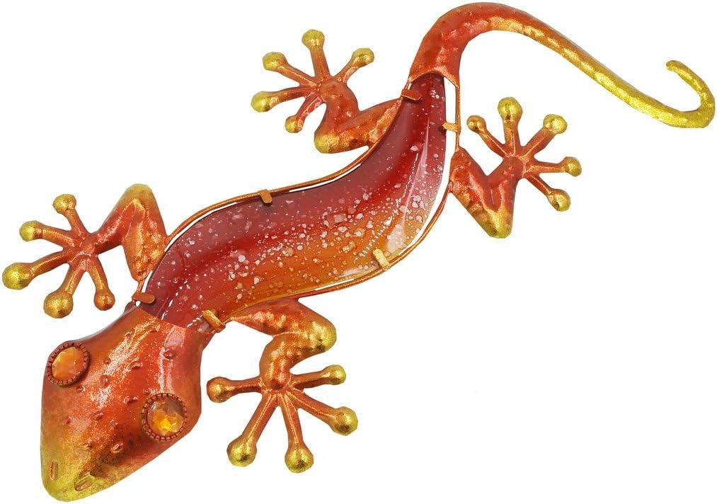 Fountasia Orange 44/cm en Verre et en M/étal Gecko
