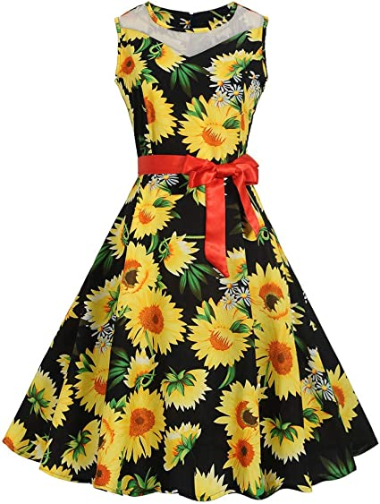 Vestido Vintage mujeres, xinantime mujeres Vintage 1950 s Audrey ...