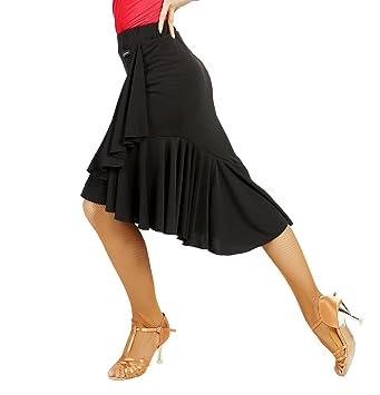 SCGGINTTANZ G2022 Profesional Falda de Danza Latino Latin Moderno ...