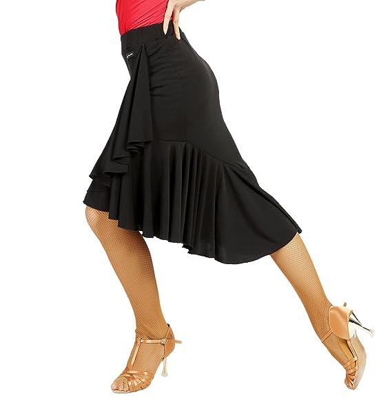 Amazon.com: G2022 - Falda de baile, diseño de hojas de loto ...