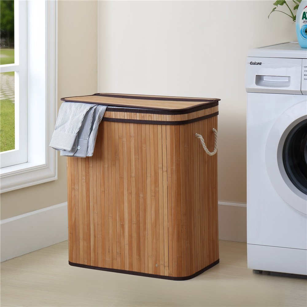 Finnhomy Bamboo Laundry Basket