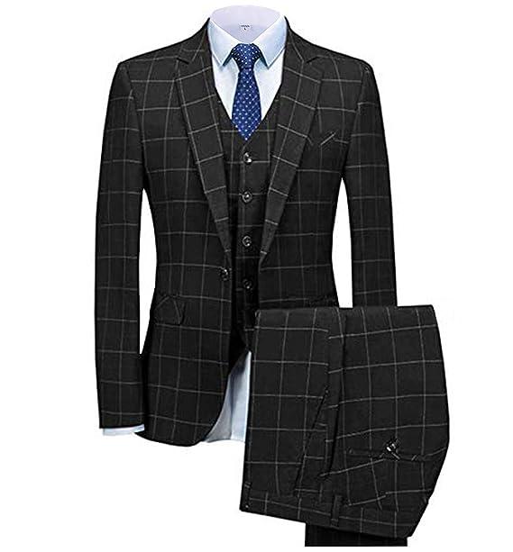 Amazon.com: Traje para hombre de 3 piezas, traje formal y ...