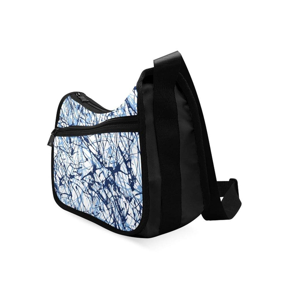 Different Textures Are Torn Messenger Bag Crossbody Bag Large Durable Shoulder School Or Business Bag Oxford Fabric For Mens Womens