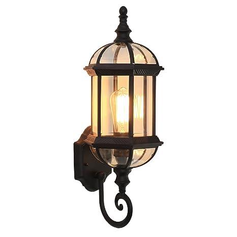 BOOTU lámpara LED y luces de pared Retro impermeable exterior apliques rústicas escaleras pasillos balcón exterior