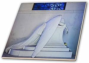 3dRose ct_90503_1 Louisiana, New Orleans, Metairie Cemetery - US19 WBI0249 - Walter Bibikow - Ceramic Tile, 4-Inch