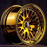 4 bolt gold rims - JNC001 Gold Chrome 15x8 4x100 ET25 Offset Wheel Rim